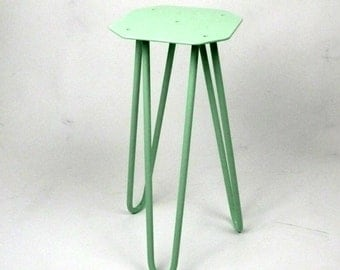 Hairpin Legs for Stool / Side table, Industrial Furniture, Eames, Handmade, Tripod Base