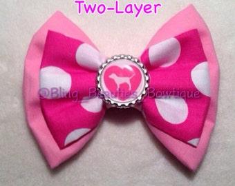 Victorias Secret Pink Bow  Pink Pup Polka Dots