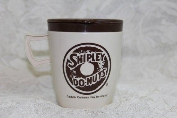 Vintage Alladinware Shipley Donuts Travel Mug With Lid