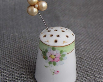 Nippon porcelain floral pin holder