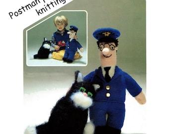 postman pat knitting pattern digital PDF download 99p