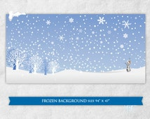 PRINTABLE Frozen inspired party backdrop