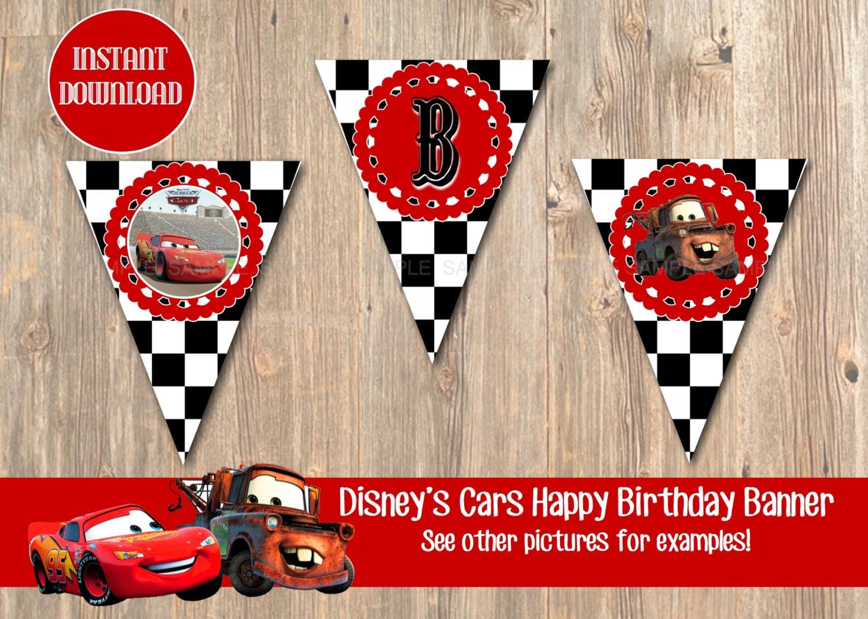 Disney S Cars Birthday Banner Disney Banner Cars