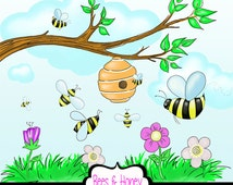 popular items for cute bees on etsy