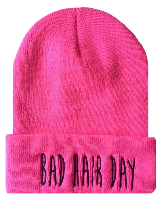 BAD HAIR DAY Cuffed Beanie Hat Hip Hip Dope Beanies Cap