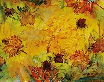 Abstract Acrylic || Autumn Song || Free Shipping
