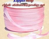 "Fancy Rayon Ribbon - Soft Pink- 1/4"" Width 100 Yard Roll - 100% Rayon - Made in USA - Lawrence Schiff Silk Mills-Zipperstop"