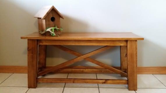banc dentr e rustique bancs de bois rustiques banc. Black Bedroom Furniture Sets. Home Design Ideas