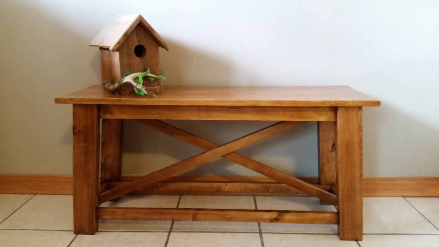 Rustic Wooden Foyer Bench : Rustic entryway bench wood benches