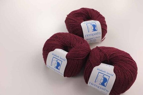 Modal Knitting Yarn : Hempathy hemp yarn color dark wine cotton modal