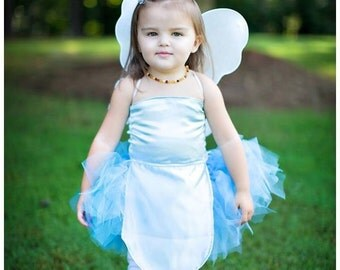 Boutique custom handmade pageant girls Halloween Fairy Costume Periwinkle