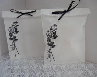 WEDDING FAVOR GIFT Bags, Set of 10, Bridal Shower Favors, Bridesmaid Favor Bags, Groomsmen Favor Bags, Food  Bags, Bridal Shower Gift Bags