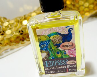 Perfume Oil, Empress No. 66 Amber Blend Perfume 15ml .5 oz., alcohol-free