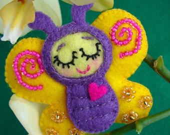 Butterfly Brooch felt Little Dreamer