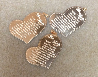 3 heart shapped Ave Maria medals GOLDFILLED 18k AP5478