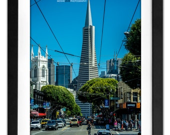 Pyramid Urban Architecture Photography San Francisco Tall Building Northern California Cables Little Italy - Transamerica