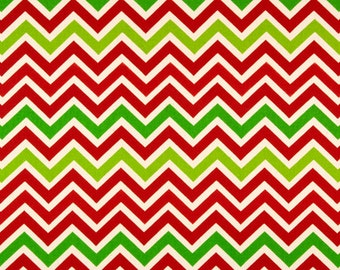 ZOOM ZOOM Chevron Fabric Chartreuse Green/Lipstick Red Christmas Fabric Premier Prints Fabric By The yard decorator fabric