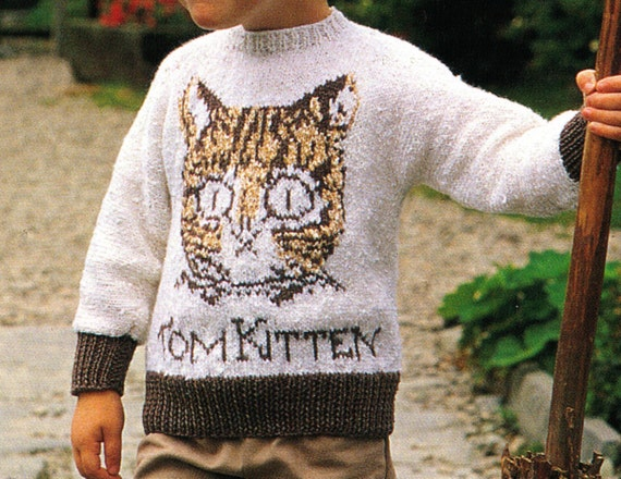 Knitting Pattern For Peter Rabbit Jumper : ToM THe KiTTEN FRoM PeTer RaBbit WiNter JuMper Or SWEaTer