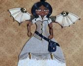 Steampunk Princess Original Canvas Ornament