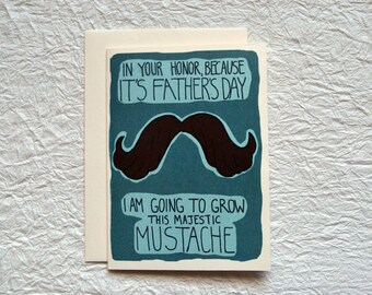 Majestic Mustache Father's Day Card
