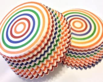 Multi Colored Cupcake Liners 50 count Rainbow Circle