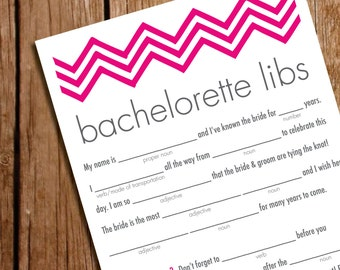 Bachelorette party game bachelorett e mad libs bridal shower template