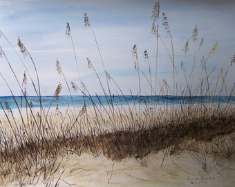watercolor painting,original,beach scene art,seashore paintingart show,watercolor art,original painting,sand and water art,artistic art