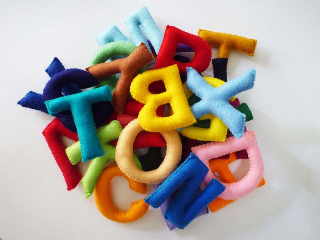 Alphabet Learning Toys : Felt stuffed alphabet letters for kids educational toy