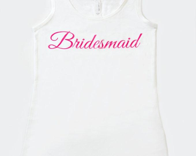 cotton bride tank . bride stretchy tank top. Bridesmaid t-shirts . Wedding party tanks . Bridal party shirts. Weddings . bridesmaid tees .