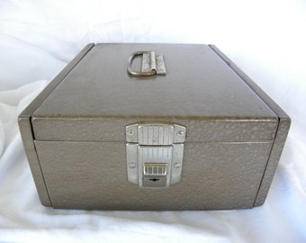 CLEARANCE**VINTAGE Heavy Duty Metal Check Box or File Box Industrial