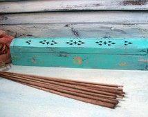 Teal Incense Burner W/ 100 Bundle of Incense Sticks