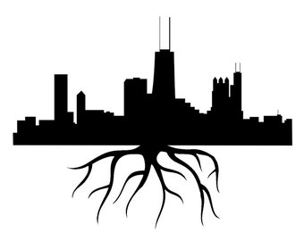 Chicago Home Grown City Skyline - Car/Truck/Home/Computer/Laptop/Phone Decal