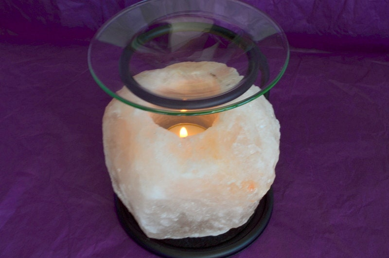Salt Lamp Tea Lights : Himalayan Salt Lamp Oil Burner Tea Light Candle Holder