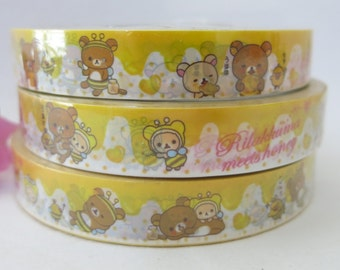 Cute Rilakkuma Bear Meets Honey Deco Adhesive PVC Tape  CT003