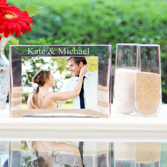 Wedding Ceremony Sand Vase with Photo Slot Wedding Sand Unity Set
