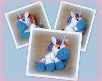 Crochet Unicorn - PDF Tutorial Pattern