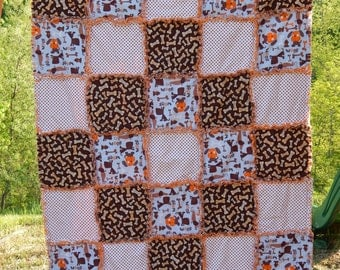 "Baby Rag Quilt 39""x49""...READY TO SHIP!!!"