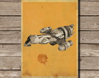 Firefly poster movie art minimalist poster geekery art print sci fi print serenity giclee print