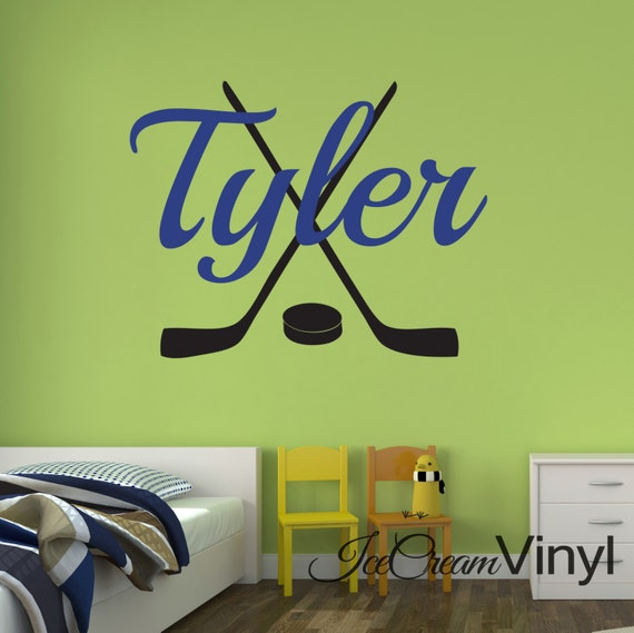 Hockey Decal Sports Decal Wall Decal