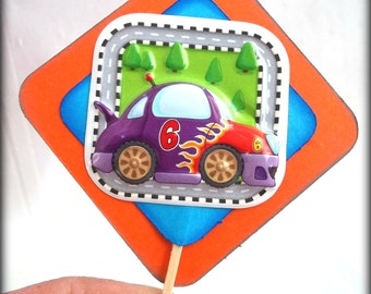 racing cars cupcake toppers, race car toppers, racing cars birthday party theme, race car birthday theme, race car baby shower, hot rods