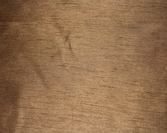 Brown Faux Silk - Fabric by the Yard 065