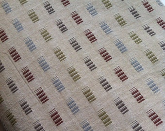 Half Yard- Japanese Thick Cotton- Yarn Dyed in Light Brown background