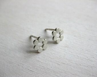 Flower Stud Earrings silver