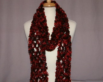 Red/Black Accent Scarf from Maui, HI - SP00015