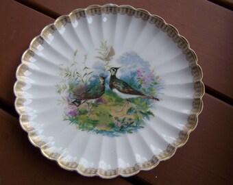 """Haviland 9"""" Plate Depicting Pheasants"""