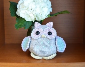 Owl Crochet Pattern. Olivia The Owl Amigurumi Crochet Pattern. Owl Pattern. Baby Owl Amigurumi Pattern. Owl Downloadable PDF Crochet Pattern