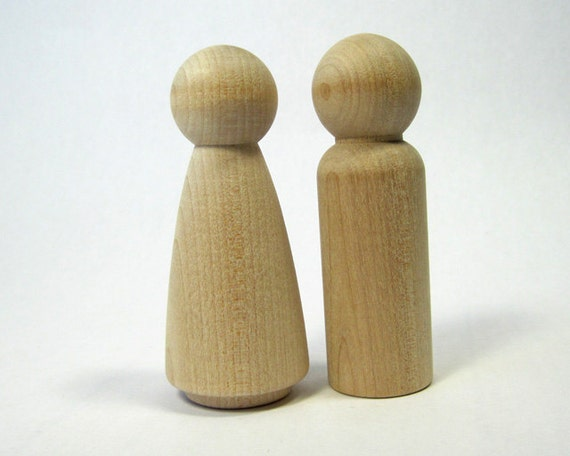 Large peg dolls man woman wood craft supplies by for Wooden craft supplies online
