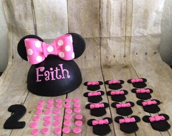 Fondant Minnie Mouse Inspired Cake Topper