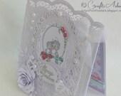 Wedding Congratulations Card - Always and Forever Handmade OOAK Card - Wedding Anniversary Engagement Congratulations Unique Keepsake Card
