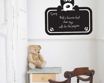 Silly Dog Blackboard Wall Decal